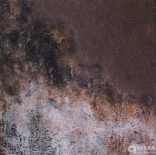 王钦 记忆之景No.27 30×30cm 油画 2016