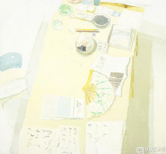 冯玮 室内——桌面上的静物 200×200cm 布面油画 2013年