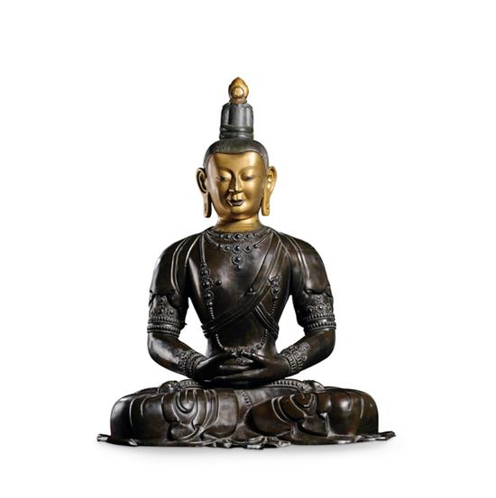 清乾隆 紫金琍玛无量寿佛坐像 H 90 cm 估价待询 成交价:RMB39,100,000
