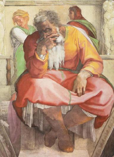 《先知耶利米》(西斯廷礼拜堂天花板)