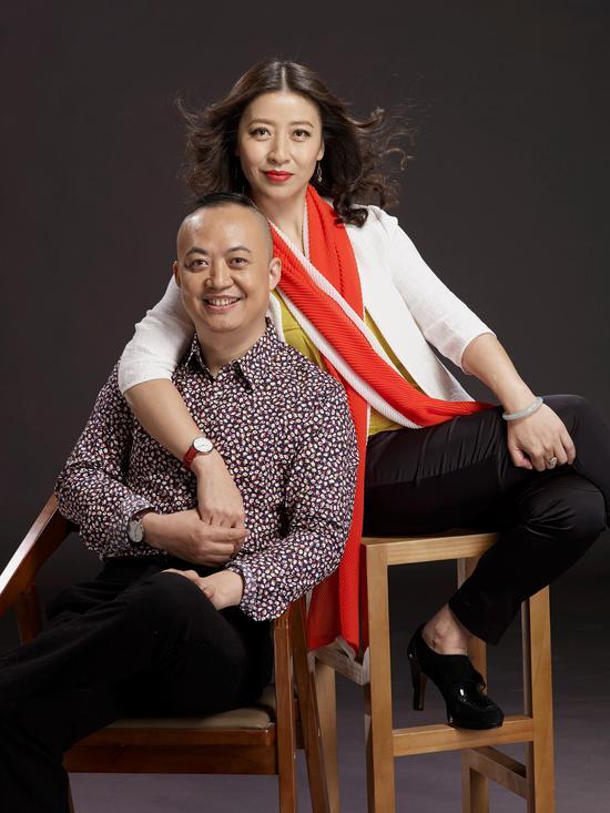 艺术厦门博览会负责人罗文轩、滕丽夫妇