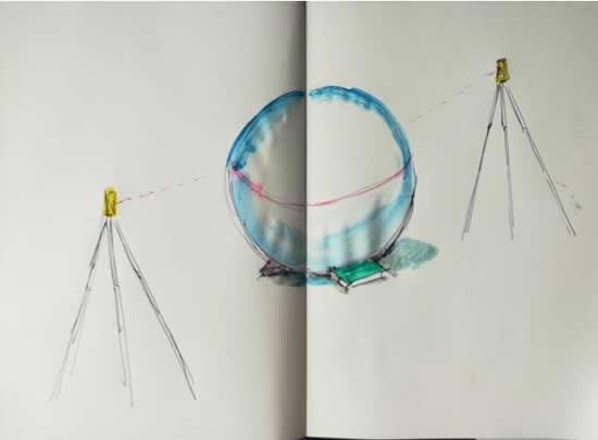 廖斐-制造一个环形-水平仪,橡胶球,书-尺寸可变-2017