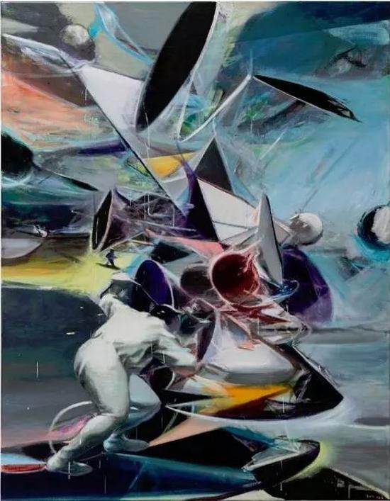 贾蔼力,《Geometry in the sky》,2017年