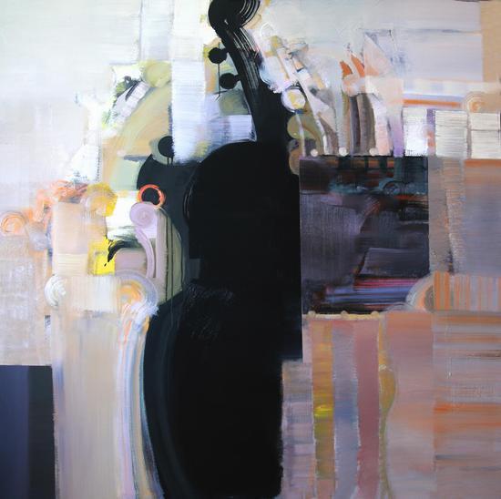 油画   题目《悦》尺寸150.150