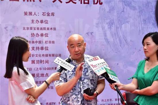 范扬老师接受媒体采访