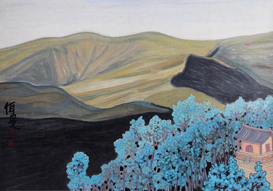 杨佴旻 五台山之一 2013年 国画 79x112cm