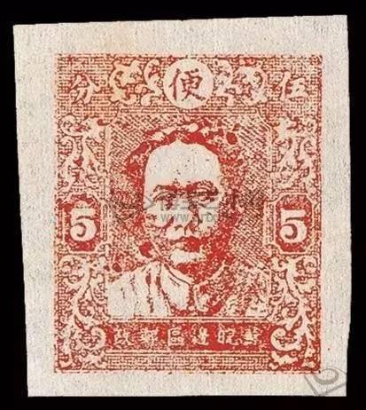 第一版毛泽东像邮票