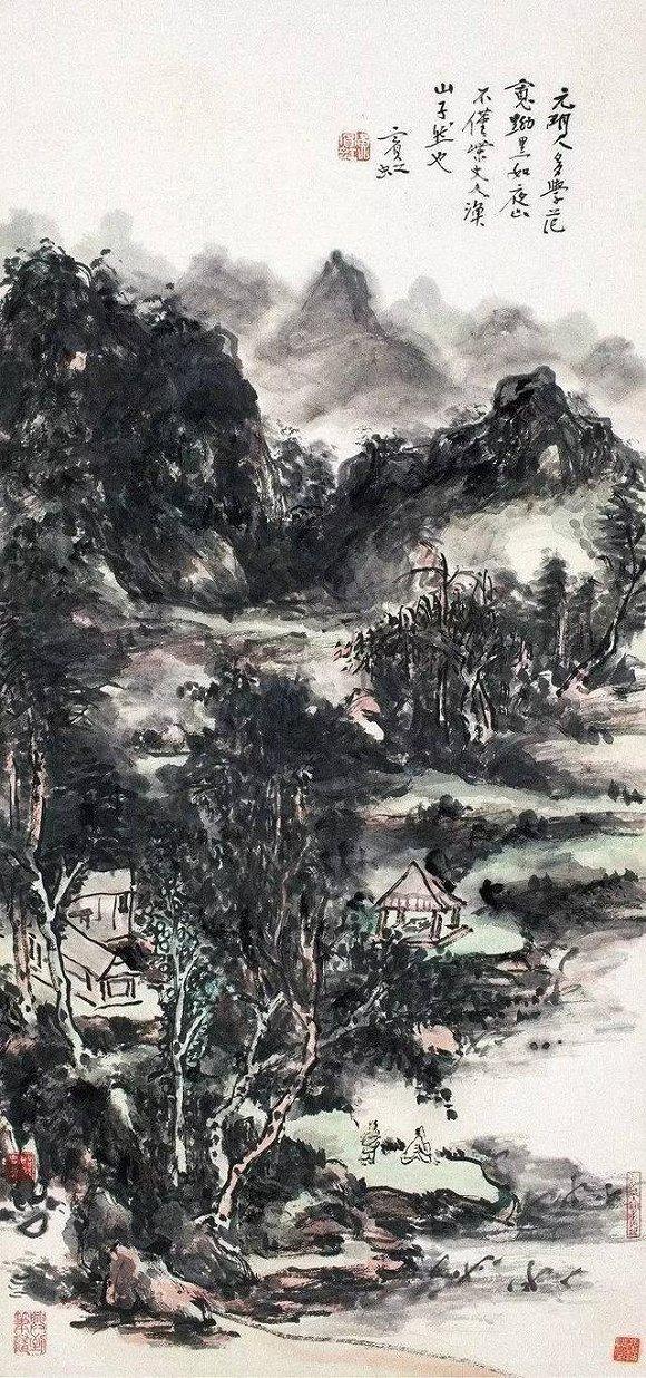 《湖山泊舟图》
