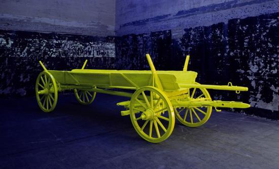 Anselm Reyle,《Heuwagen/Hay Cart》,2001/2008。Boros Collection提供