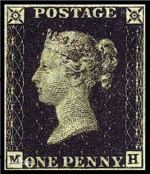世界上第一枚邮票——黑便士