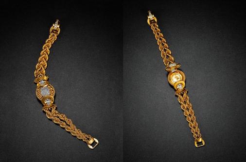 2017西泠春拍  独立制表师设计 隐藏系列 18K 金钻石女表 年代:维多利亚时期 约1900 年 手表长度:19cm 重量:84g