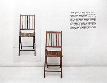 Joseph Kosuth, One and Three Chairs(1965)
