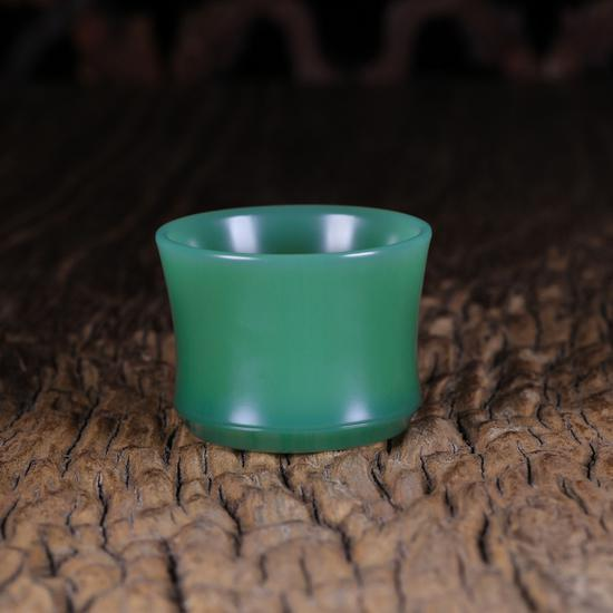 02197曾堂贵  鸭蛋青素杯