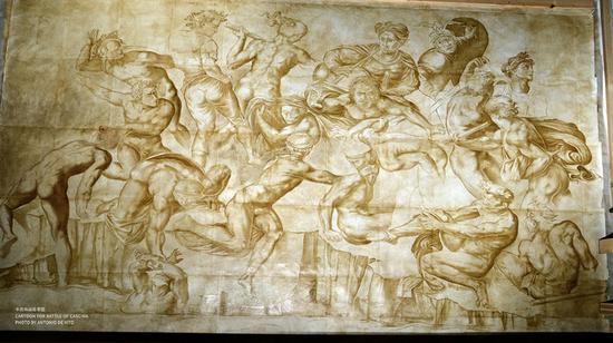 米开朗基罗的《卡西纳之战》草图