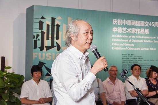 中国美术家协会综合材料绘画与美术作品保存修复艺委会主任 胡伟致辞