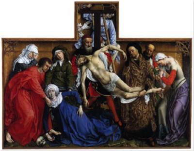 《卸下圣体》罗吉尔·凡·德·韦登 1435 尼德兰
