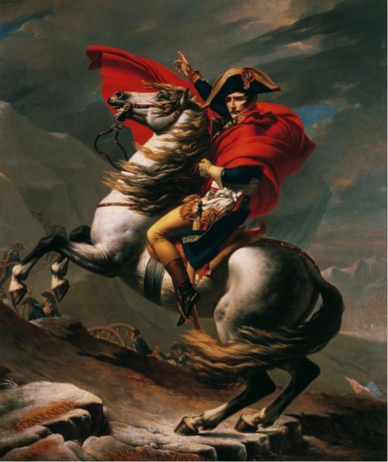 拿破仑翻越阿尔卑斯山圣伯纳山口