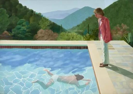 大卫·霍克尼的《游泳池》。图:英国泰特美术馆