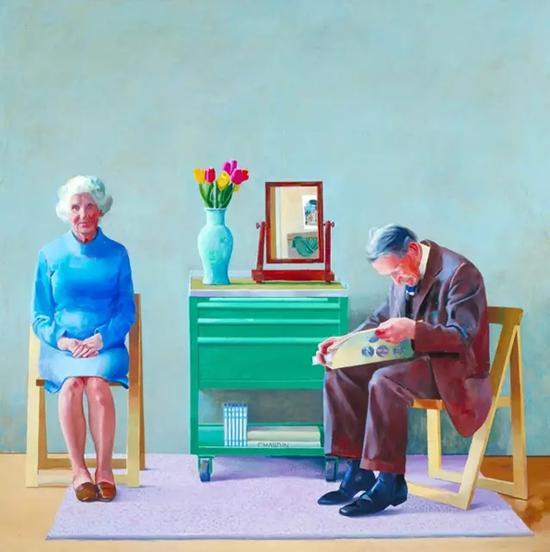 大卫·霍克尼的作品《我的父母》。 图:英国泰特美术馆