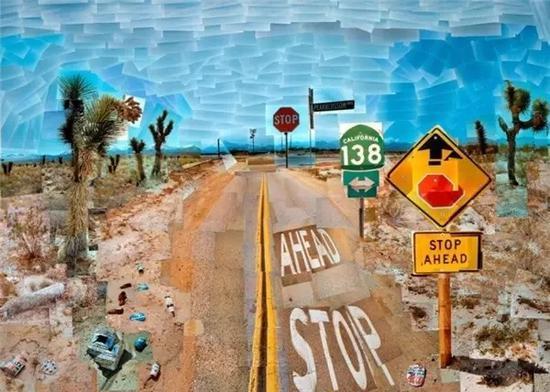 大卫·霍克尼的著名作品《梨花高速》。 图:新浪网