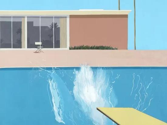 大卫·霍克尼的代表作《更大的激浪》。图:英国泰特美术馆