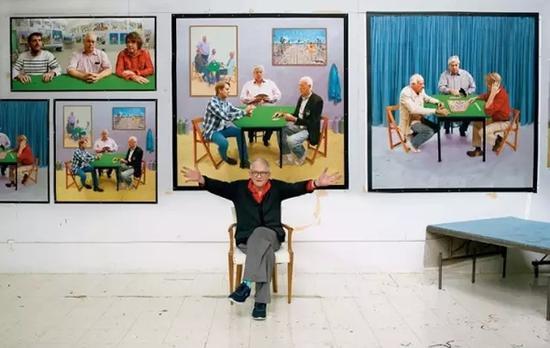 今年7月9日,大卫·霍克尼迎来了自己八十岁生日。图:NYtimes
