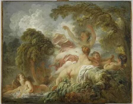 《浴女们》(Les Baigneuses),让-奥诺雷・弗拉戈纳尔(Jean-Honoré Fragonard),卢浮宫博物馆,巴黎Photo (C) RMN-Grand Palais (musée du Louvre) / Franck Raux