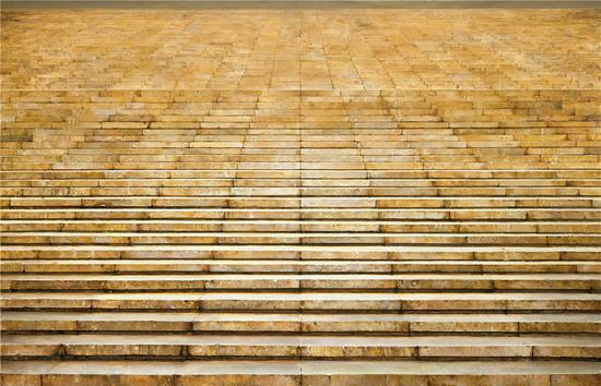 张安 《台阶》155×100cm 综合材料 2016