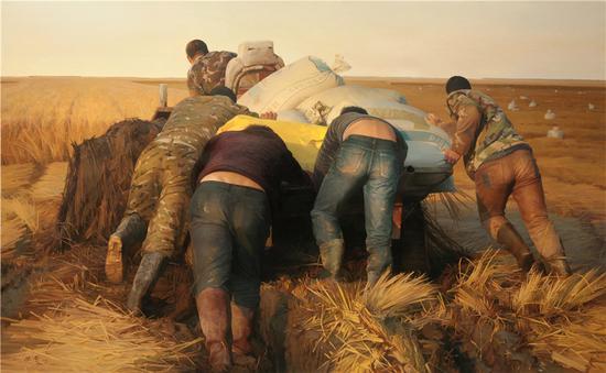 张奇 《大地不息》之六 118×112cm 布面油画 2015