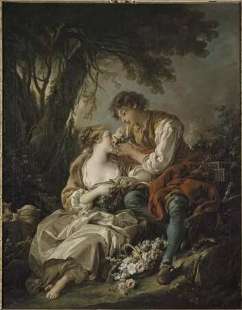 《牢笼》(La Cage),弗朗索瓦・布歇(Fran?ois Boucher),1763,卢浮宫博物馆,巴黎Photo (C) RMN-Grand Palais (musée du Louvre) / Droits réservés