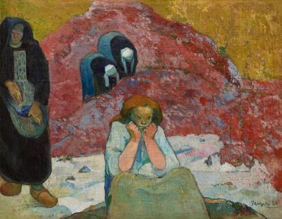 高更 Gauguin - 阿尔勒的葡萄酒丰收