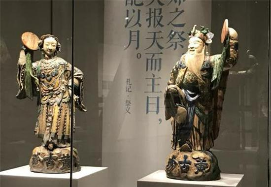 日神、月神塑像 清光绪(公元1875-1908年)