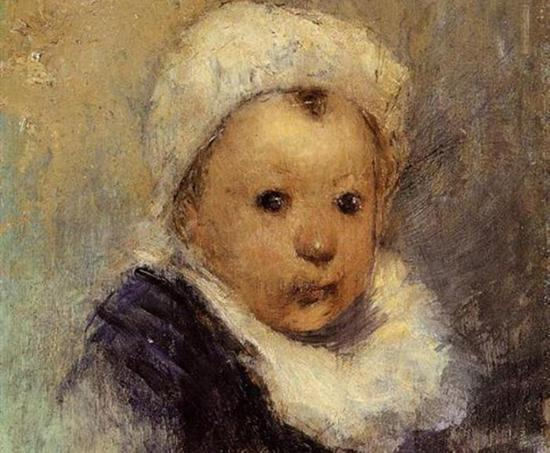 高更 Gauguin - Portrait Of A Child (Aline Gauguin)