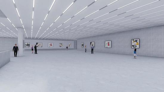 图说:坐落于长宁古北的程十发美术馆效果图