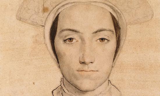 戴着白色头饰的女人c.1532-43 摄影:皇家收藏 图片来源:卫报