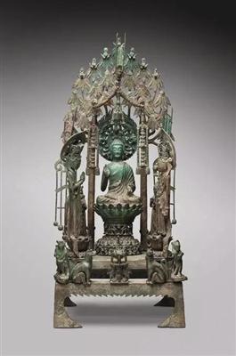 隋代金铜佛群像,波士顿美术馆藏