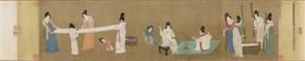 宋徽宗《摹张萱捣练图》,波士顿美术馆藏