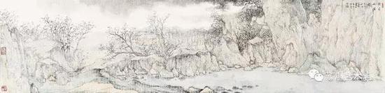 徐光聚 林泉山居图 34x140cm 2014年