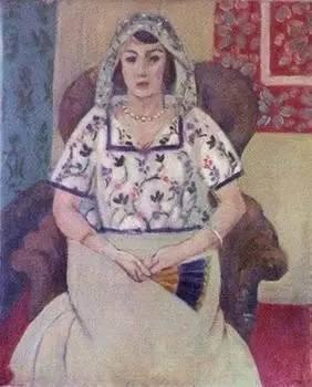 亨利·马蒂斯作品《坐着的女人》