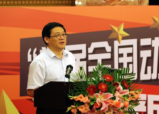 中国美协分党组书记、驻会副主席、秘书长徐里在发布会上致辞