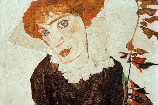 席勒作品(1912)。1998年在美国被确认为被掠夺画作,在历经12年诉讼后,得到原拥有者继承人同意,于2010年回到维也纳Leopold博物馆