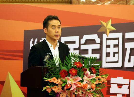 中共广州市委宣传部副部长朱小燚在发布会上致辞