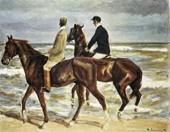 德国印象派画家马克斯·利伯曼的《海边的骑马者》被归还给工业家、艺术收藏家 David Friedmann 的侄子