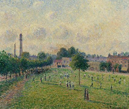 卡米耶·毕沙罗(1830 – 1903),《绿色裘园,1892》,帆布油画,460 x 550毫米