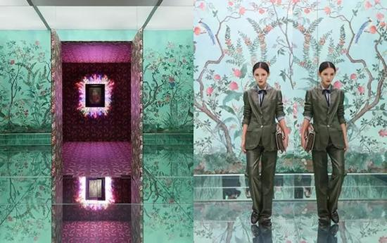 "GUCCI ""已然/未然""展览中最受欢迎的镜子屋,号称最适合自拍的房间"