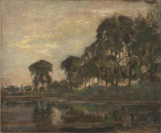 《Gein沿岸的树》(Trees along the Gein),1905年