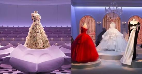 Dior 迷你剧院展览,陈列了mini 版的 Dior 高定礼服