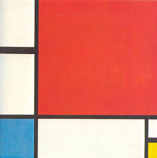 《红、蓝、黄构图》(Composition II in Red, Blue and Yellow),1930年