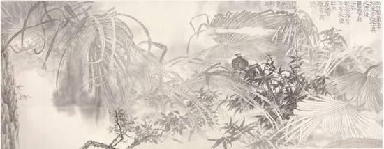 素雅含象之三 66 x 163cm 2017
