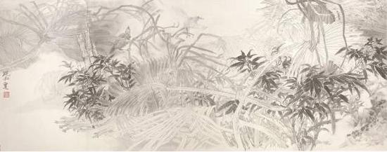 素雅含象之五 66 x 163cm 2017